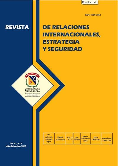 Revista de Relaciones Internacionales, Estrategia y Seguridad